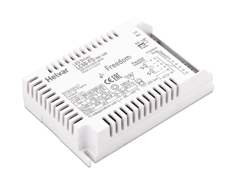 Helvar Freedom compact SELV60 LED drivers