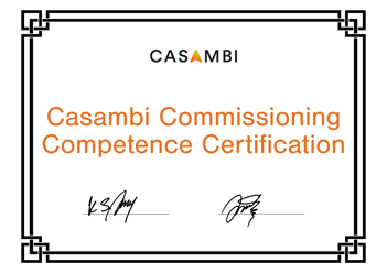 Casambi comissioning competence certification