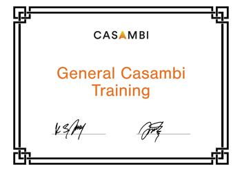 General Casambi training certificate