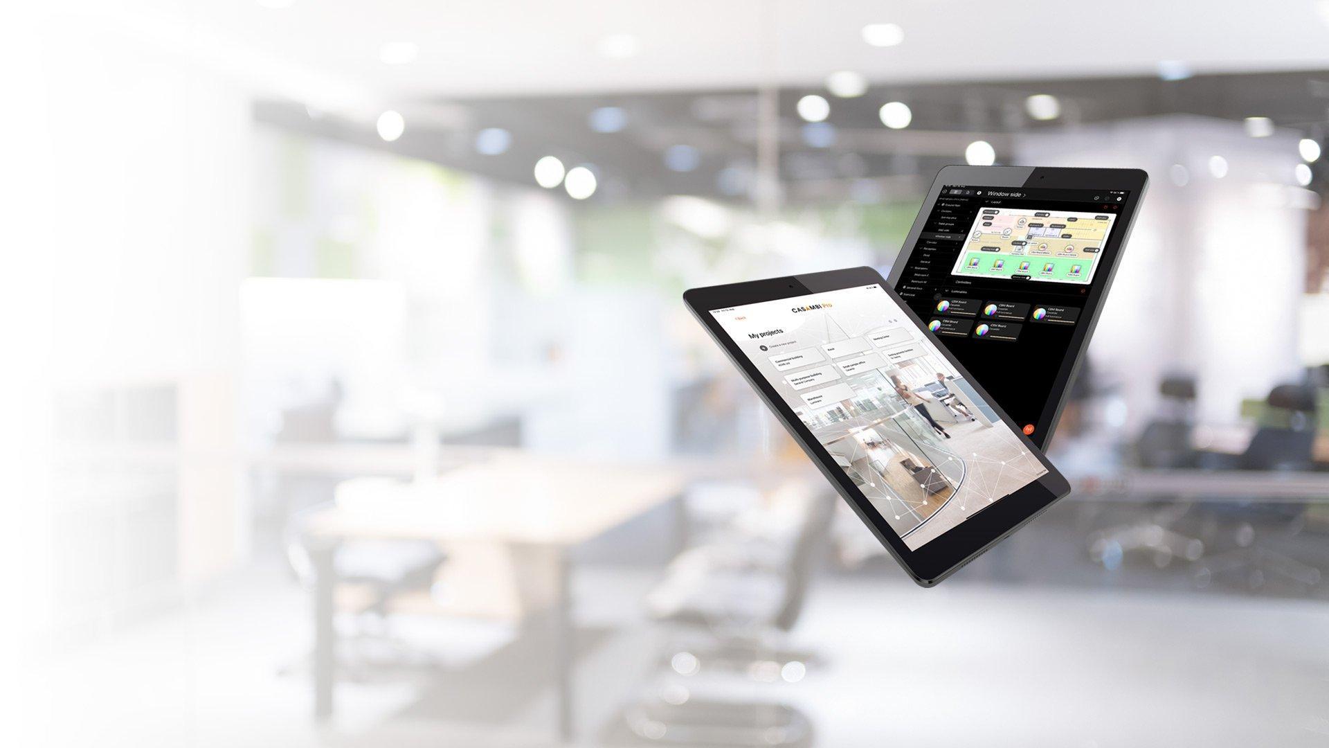 Casambi Pro beta iPad screens